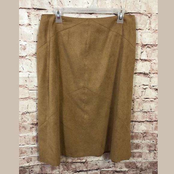 cf9c960027 Talbots Skirts   12 Midcalf Skirt Tan Camel Modest Brushed   Poshmark